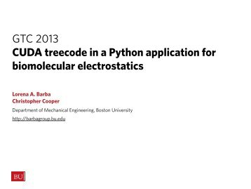 CUDA Treecode in Python App for Biomolecular Electrostatics | GTC ...
