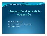 Julio E. Villarreal Navarro Curso Corto sobre Evaluación Ejecutiva ...
