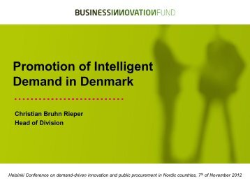 Promotion of Intelligent Demand in Denmark - Tekes