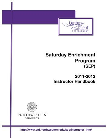 Instructor Handbook 2011-2012 REVISED 12_20_11 - Center for ...