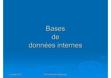 Bases de données internes