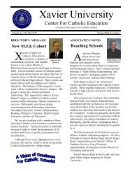 Spring 2008 Newsletter - Xavier University