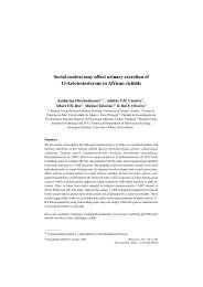 Social context may affect urinary excretion of 11-ketotestosterone in ...