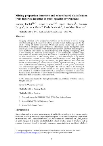 Mixing proportion inference and school-based classification from ...