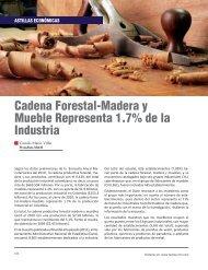 Cadena Forestal-Madera y Mueble Representa 1.7% de la Industria
