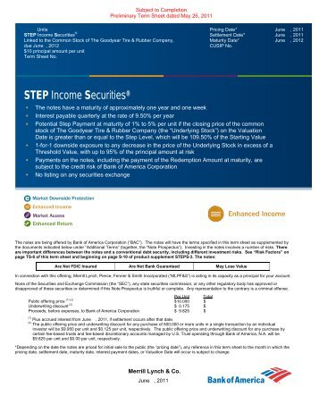 STEP Income Securities® - Merrill Lynch Wealth Management