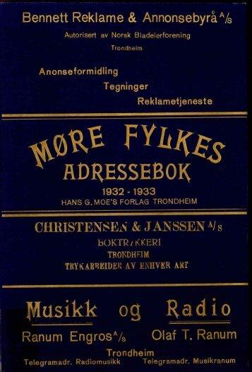 Adressebok 1932-33 - Romsdal Sogelag