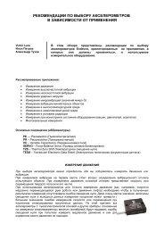 рекомендации по выбору - ЗАО Радиант-Элком