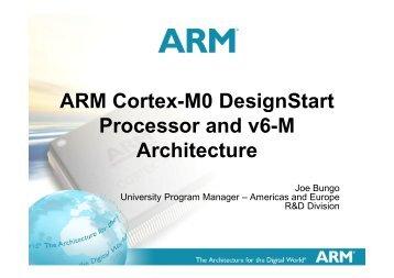 ARM Cortex-M0 DesignStart Processor and v6-M Architecture