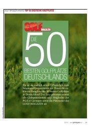 GOLF MAGAZIN Rangliste TOP 50 - Golfclub Lippstadt