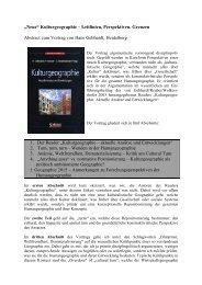 """""""Neue"""" Kulturgeographie - Geographisches Institut Uni Heidelberg"""