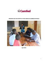 research on the extent of child abuse in Zambian schools - Irish Aid