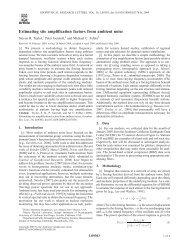 Estimating site amplification factors from ambient noise - CiteSeerX