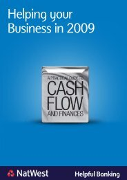 Helping your Business in 2009 - NatWest