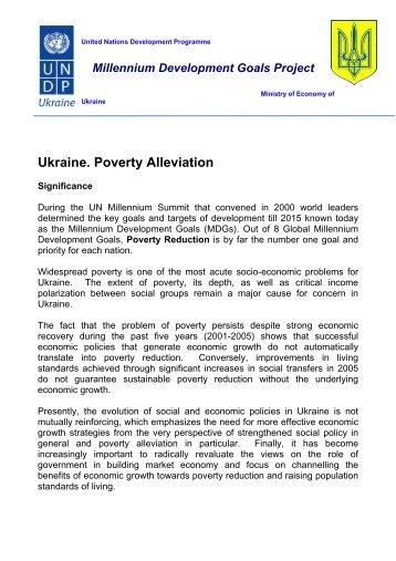 Ukraine. Poverty Alleviation - UNDP in Ukraine