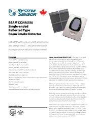 BEAM1224A - System Sensor Canada