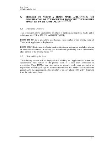 Guidelines For Completing Form TM27A/B Electronically