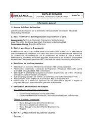 Información general CARTA DE SERVICIOS - Departamento de ...