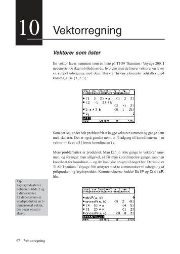 """""""Vektorregning med TI-89 og Voyage 200"""" som PDF-fil"""