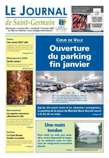 Ouverture du parking fin janvier - Saint Germain-en-Laye