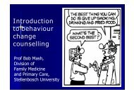 Introduction to behaviour change counselling - South African Health ...