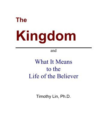 The What It Means to the Life of the Believer - Biblical Studies ...