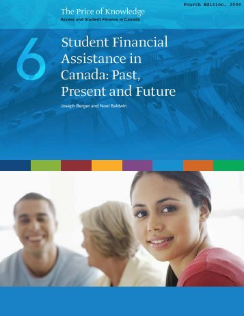 Student Financial Assistance in Canada: Past, Present and Future