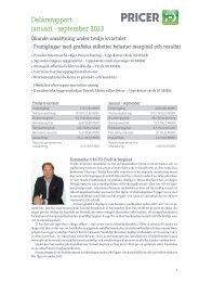 Delårsrapport januari - september 2013 - Cision