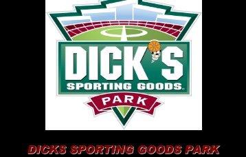dicks sporting goods park dicks sporting goods park