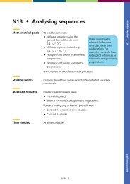 N13 Analysing sequences - Great Maths Teaching Ideas