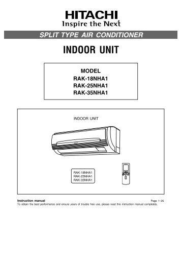 INDOOR UNIT - Hitachi Air Conditioning Products