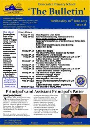 2013 Newsletter 18 - Doncaster Primary School