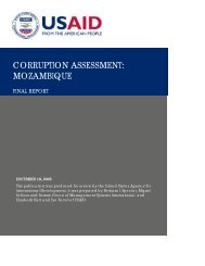 CORRUPTION ASSESSMENT: MOZAMBIQUE - World Bank