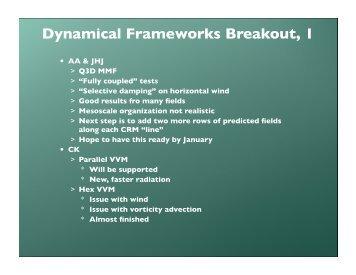 Dynamical Framework - cmmap