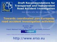 Towards coordinated pan-European road accident ... - ERSO - SWOV
