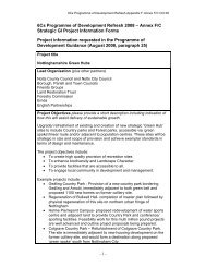 Annex F/C - Strategic GI Project Information Forms (pdf 200Kb)