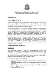 BOM PRATO - Secretaria de Desenvolvimento Social - Governo do ...