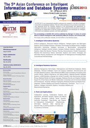 ACIIDS 2013 call for papers - SPACE UTM Conferences