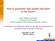 How to guarantee high quality education in the future?