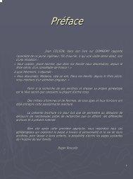 Préface - Généalogie des familles BALLET & ROUCOLLE