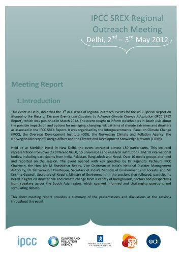 A full meeting report is available here. - CDKN Global