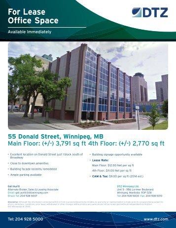 55 Donald Street, Winnipeg, MB - DTZ