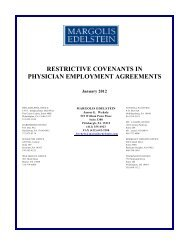 Restrictive Covenants in Physician Employment Agreements