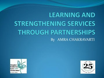 HPCA Learning and Strengthening Services through Partnerships ...
