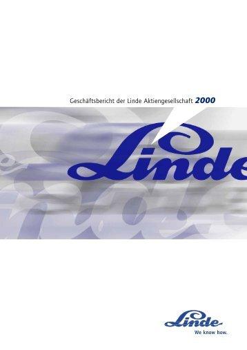 Geschäftsbericht der Linde Aktiengesellschaft 2000 - The Linde Group