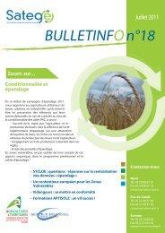 BULLETINFO n°18 - Chambre d'agriculture du Nord-Pas-de-Calais