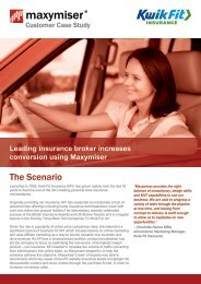 The Scenario - Maxymiser