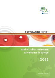 Antimicrobial resistance surveillance in Europe