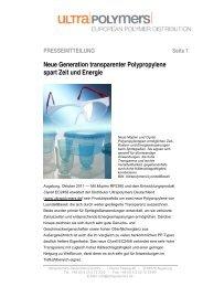 Neue Generation transparenter Polypropylene spart Zeit ... - chemie.at