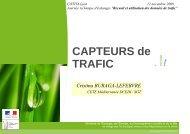Capteurs de trafic - CoTITA